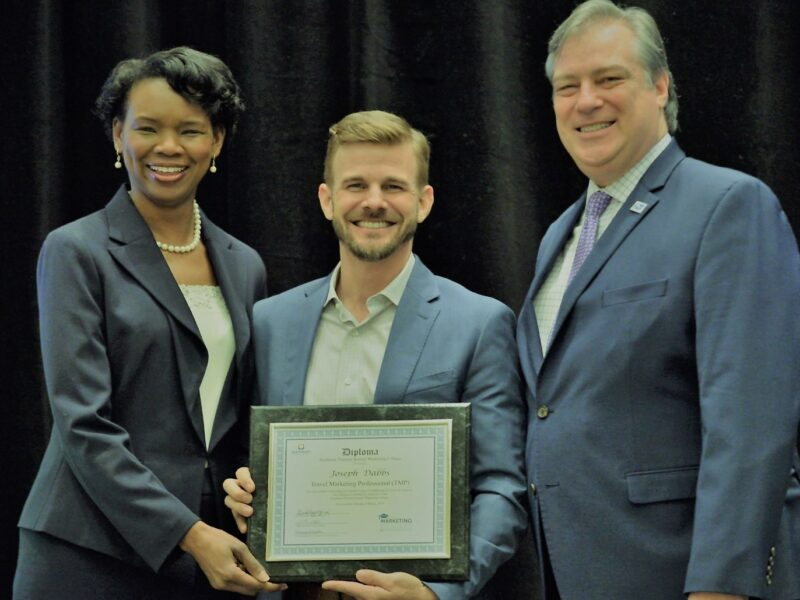Joseph Dabbs Completes STS Marketing College, Earns 'Travel Marketing Professional' Certification
